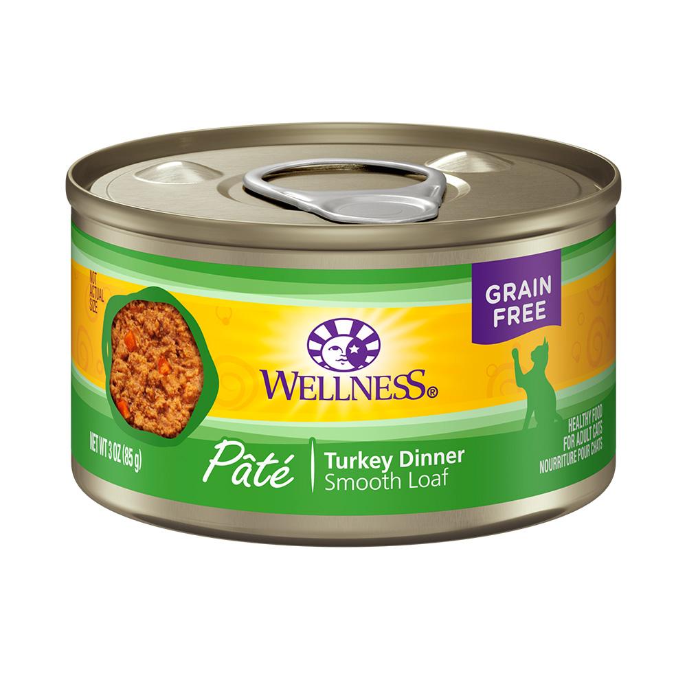 美国WELLNESS CH全方位无谷鲜肉酱成猫罐(纯火鸡肉)85g×24罐