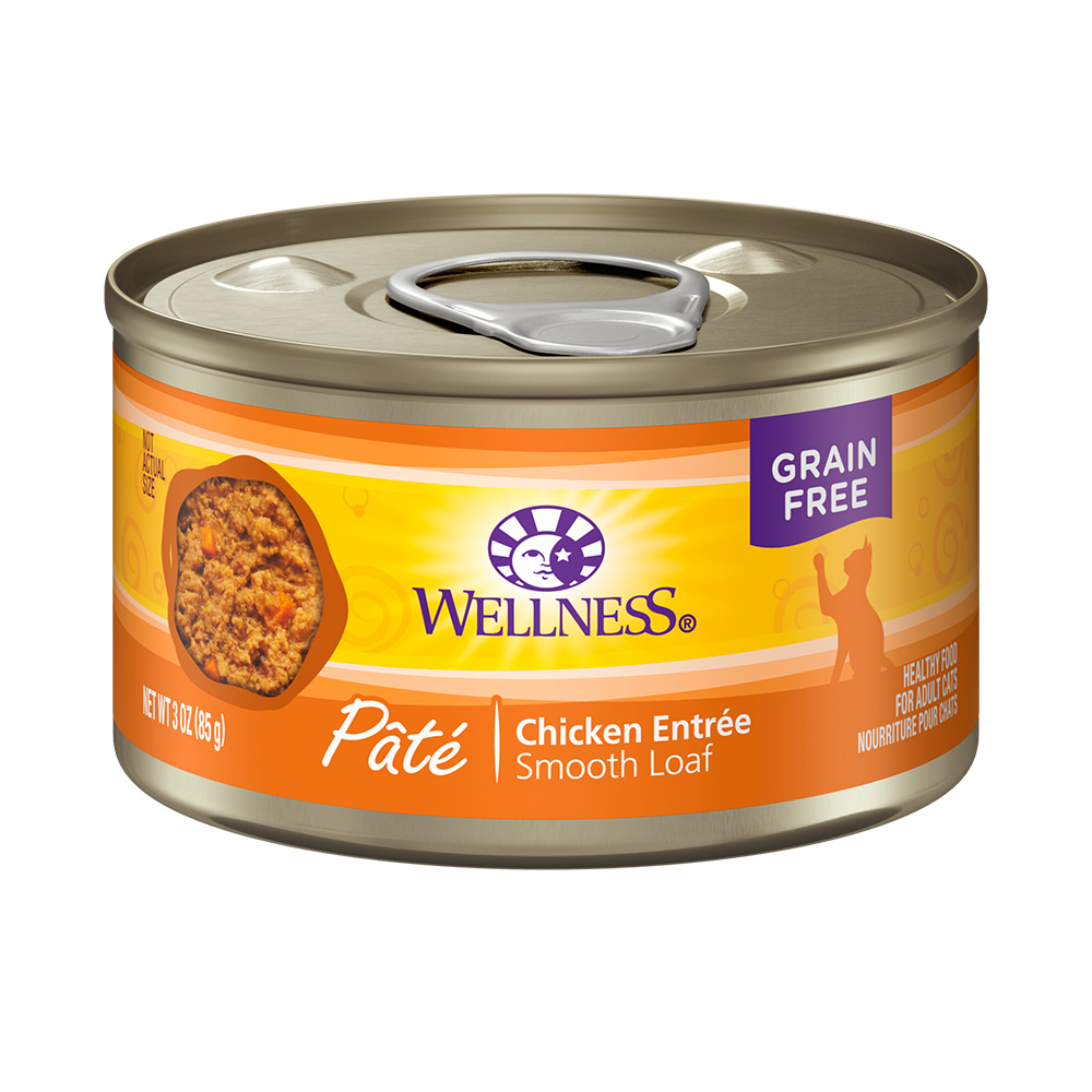 美国WELLNESS CH全方位无谷鲜肉酱成猫罐(纯鲜鸡肉)85g×24罐