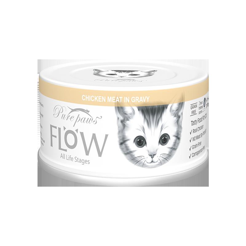 泰国PurePaws飘仕FLOW高汤补水系列白肉全猫罐-纯鸡肉80g×24罐