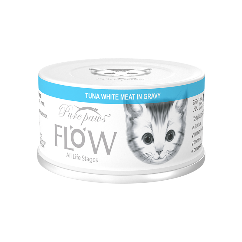 泰国PurePaws飘仕FLOW高汤补水系列白肉全猫罐-吞拿鱼80g×24罐