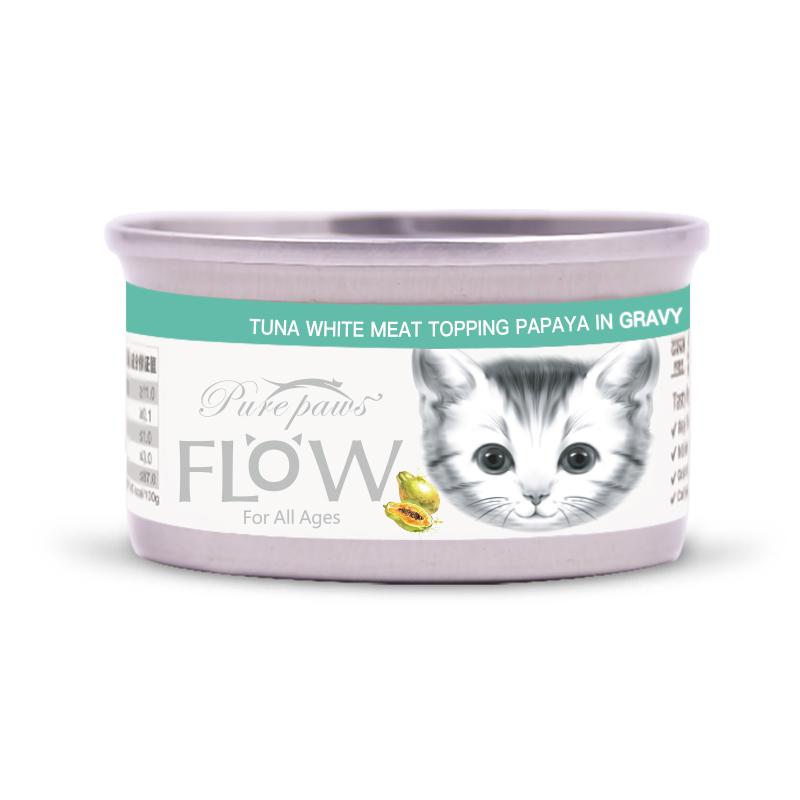 PurePaws飘仕FLOW高汤水果猫罐头-木瓜80g*24罐